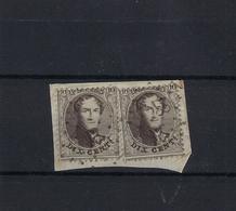 N°14Ab GESTEMPELD Pt87 Courtrai COB € 12,50 + COBA € 2,00 SUPERBE - 1863-1864 Medallions (13/16)