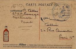 """1940- C P F M  Illustrée D'une PUB Pour """" La Frileuse""""  Flacon à Verser Dans 1 Litre De Vin !!! - Storia Postale"""