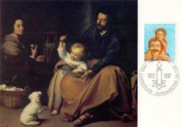 HELVETIA  SWISS BERN BARTOLOME ESTEBAN MURILLO  MAXIMUM POST CARD  (GENN201558) - Arte