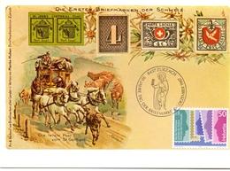 HELVETIA  SWISS  ZURZACH TAG DER BRIEF MARKE  POST CARD  (GENN201559) - Giornata Del Francobollo