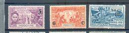 INDO 566 - YT 147 à 149 * - Indochina (1889-1945)