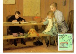 HELVETIA  SWISS  ALBERT ANKER PINTURE  POST CARD  (GENN201563) - Arte