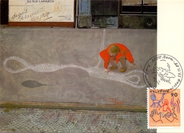 HELVETIA  SWISS  BERN  HANS ERNI  POST CARD  (GENN201565) - Arte