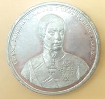 Zinn Medaille Franz Joseph Kaiser Von Österreich Thronbesteigung 2. Dezember 1848 - Royaux / De Noblesse
