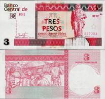 Cuba 2017 - 3 Pesos Convertibles - Pick NEW UNC - Cuba