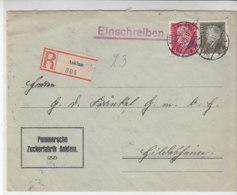 R-Brief Der Pommerschen Zuckerfabrik Aus ANKLAM 27.12.29 Nach Hildesheim - Cartas