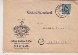 Brief Von ROTTER & CO Aus (13b) BAYREUTH 20.9.46 Nach Creussen - Zona AAS