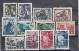 Bulgaria 1950 - Freimarken: Volkswirtschaft, Mi-Nr. 723A/30A+770/73, MNH** - 1945-59 República Popular