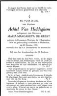 Massemen-Westrem, 1955, Achiel Van Heddeghem, De Geest - Images Religieuses