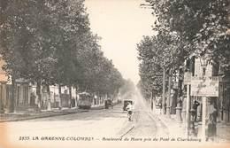 92 La Garenne Colombes Boulevard Du Havre Pris Du Pont De Charlebourg Tram Tramway - La Garenne Colombes