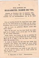 Turnhout, 1959, Elisabeth De Vel, - Images Religieuses
