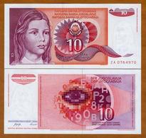 IUGOSLAVIA - 10 DINARA – 1990 – UNC - Joegoslavië