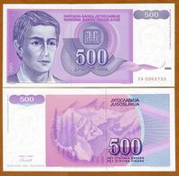 IUGOSLAVIA - 500 DINARA – 1992 – UNC - Joegoslavië