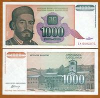 IUGOSLAVIA - 1000 DINARA – 1994 – UNC - Joegoslavië