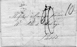 Cachet Rouge ANGL. CALAIS,L.A.C. De LONDRES Pour PARIS,23/1/40,taxes 10,15,20. - Poststempel (Briefe)