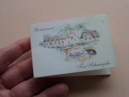 Restaurant TEN SCHAWIJCKE Te RANST ( Koen En Mark Van Doorslaer ) Anno ?? ( Details - Zie Foto ) ! - Visiting Cards