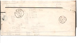 PLI DE PARIS POUR PARIS DU 8 AVRIL 1845 - LEVEE DE MIDI  1/2 -D- - 1701-1800: Precursores XVIII