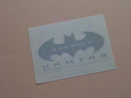 BATMAN FOREVER ( Sticker 9 X 6,5 Cm. ) Smacks De KELLOGG'S ( Details - Zie Foto ) 1995 DC COMICS ! - Publicidad