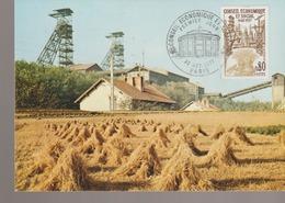 C. P. - PHOTO - MONTCEAU LES MINES - PUITS DE MINE DARCY - CARTE POSTALE 1er JOUR - 1977 - Montceau Les Mines