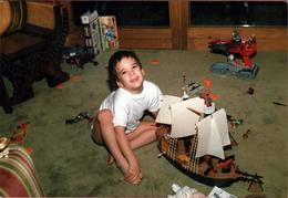 Photo Couleur Originale Jeu & Jouet - Le Super Cadeau Des Années 1980 - Le Bateau De Pirate Playmobil En 1988 - Objets