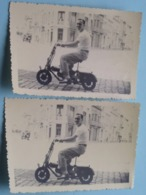 BROMFIETS (?) Moped / Cyclomoteur (? ) >> ( Zie / Voir Photo ) 2 Stuks / Pcs IDEM ! - Automobiles