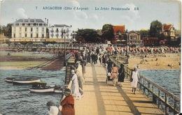 Arcachon (Côte D'Argent) La Jetée Promenade, Hôtel Victoria - Edition Bloc Frères, Carte BR N° 7 Non Circulée - Arcachon