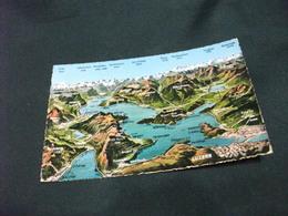 CARTA GEOGRAFICA LUZERN VIERWALDSTATTERSEE SVIZZERA - Carte Geografiche
