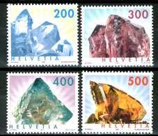 SVIZZERA / HELVETIA 2002 / 2003** - Minerali - 4 Val. MNH, Vendita Come Da Scansione. - Minerali