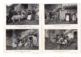 """Landes. """"La Heste Dou Porc"""". Lot De 4 Cartes.1906. - Francia"""