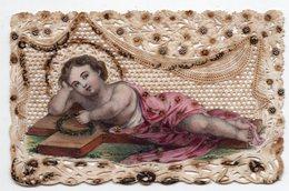 LE DIVIN ENFANT  L AGNEAU DE DIEU  CANIVET XIXéme - Images Religieuses