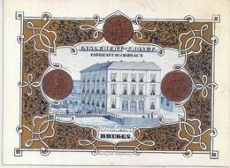"""BRUGES-BRUGGE """" ENGLEBERT-THONET-FABRICANT DE CHAPEAU-HOEDENMAKER""""LITH.DAVELUY-145/107MM - Porseleinkaarten"""