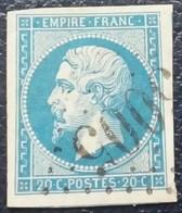 591 - 14 B- GC 5005 Alger Algérie - 1853-1860 Napoléon III