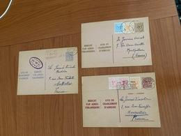 ENTIERS POSTAUX BELGIQUE  ( Lot De 3 )  - Avis De Changement D'adresse ( Port Offert ) - Entiers Postaux