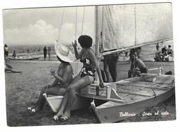 3115 - BELLARIA RIMINI SOSTA AL SOLE ANIMATA 1950 CIRCA - Italia