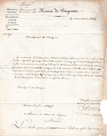 1824 Commune De BAGNEUX à Celle De DOURDAN - Demande De Renseignements Sur L'état Du Grand-Père LASELLE - Documents Historiques