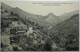 Ligne De Tram De MENTON à SOSPEL Et Village De CASTILLON - Menton