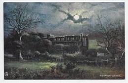 Rievaulx Abbey - Tuck Oilette 7197 - Postmark Squared Circle North Tawton - England