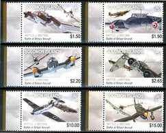 SOLOMON ISLAND 2010** - Battle Of Britain Aircraft - 6 Val. MNH, Vendita Come Da Scansione. - Seconda Guerra Mondiale