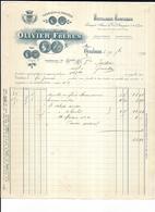 Haute Garonne 31 Toulouse OLIVIER FRERES Distillerie Confiserie  Dragées Place Olivier 1909 - Food