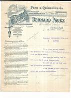 Haute Garonne 31 Toulouse  Bernard PAGES Rue Du Rempart St Etienne Fers Et Quincaillerie 1900 - 1900 – 1949
