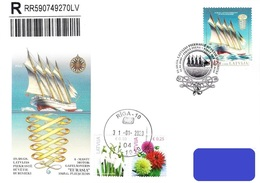 Latvia Lettland Lettonie 2020 (03) Historical Latvian Ships - Sailing Ship Eurasia 1925 (addressed FDC) - Lettland