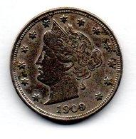 Etats Unis  / KM 112 /  5 Cents 1909 /  TB - Federal Issues