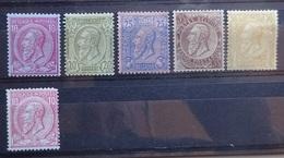 BELGIE  1884    Nr. 46 - 46 A  /  47 - 50    Gomzijde Met Gebreken  Zie Foto's - 1884-1891 Leopold II.