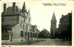 CPA - Belgique - Leopoldsburg - Bourg-Léopold - L'Eglise Et La Poste - Leopoldsburg