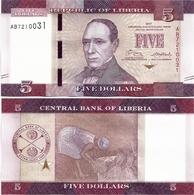 LIBERIA       5 Dollars       P-31b       2017       UNC - Liberia