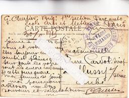CPA - 75 - PARIS (13ème) - MILITARIA Guerre 1914-1918 -  Corresp Parc AUTO Des Arts Et Métiers - OBLITER Et CACH MILITAI - Arrondissement: 13
