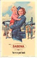 ETIQUETA DE AVION  - SABENA AIRLINES  -BELGIUM - Etiquetas De Equipaje