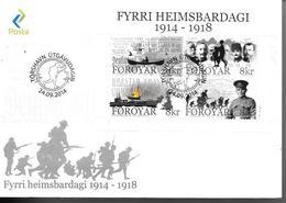 FDC Foroya - Iles Féroé - 2014 - 1914 - 1918 - Féroé (Iles)