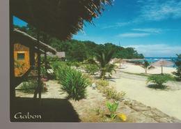 C. P. - PHOTO - GABON - EKWATA VILLAGE - VUE SUR LA PLAGE ET LA MER - A 686 M - EKWATA LOISIRS - TROPICOLOR - Gabón