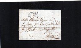CG8 - Arona - Bollo Inclinato Nero 13/11/1841 Bollo Di Transito Per Lett. Da Besozzo A Omegna 11/11/1841 - Italy